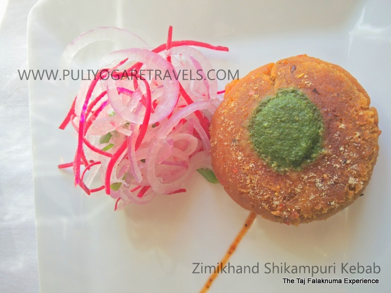 Zimikhand Shikampuri Kebab
